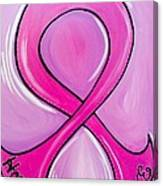 Lets Support The Fight Against Cancer Canvas Print