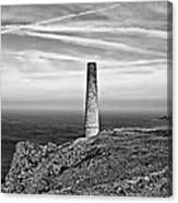 Levant To Pendeen View Black And White Canvas Print