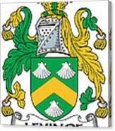 Levinge Coat Of Arms Irish Canvas Print