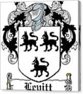 Levitt Coat Of Arms Irish Canvas Print