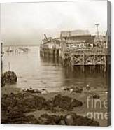 Lewis Fish Market Selected Fresh Fish And Swains Fish Market Monterey 1929 Canvas Print
