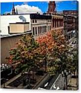 Lewiston Maine In Fall Canvas Print