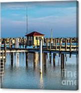 Lexington Harbor With No Boats Canvas Print