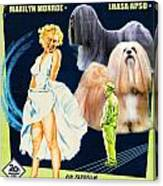 Lhasa Apso Art - The Seven Year Itch Movie Poster Canvas Print
