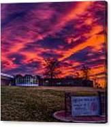 Lhs Sunset Canvas Print