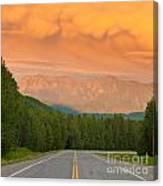 Liard River Valley Alaska Highway Bc Canada Sunset Canvas Print