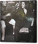 Liberace And Elvis Canvas Print