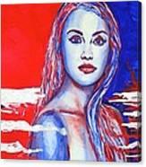 Liberty American Girl Canvas Print