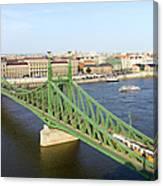 Liberty Bridge And Budapest Skyline Canvas Print
