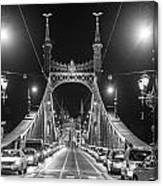 Liberty Bridge At Night Canvas Print