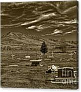 Liberty Cemetery I Sepia-toned Canvas Print