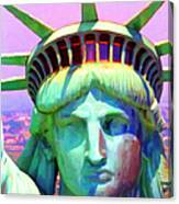 Liberty Head Painterly 20130618 Square Canvas Print