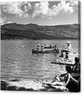 Liberty Lake Summer Leisure In 1940 Canvas Print