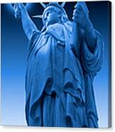 Liberty Shines On In Blue Canvas Print