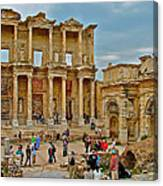 Library Of Celsus In Ephesus-turkey Canvas Print