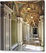 Library Of Congress Hallway Washington Dc Canvas Print