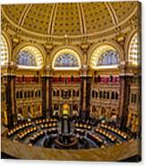 Library Of Congress Main Reading Room Canvas Print