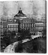 Library Of Congress Washington Dc 1902 Sketch Canvas Print