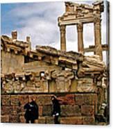 Library On The Pergamum Acropolis-turkey Canvas Print