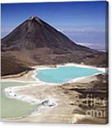 Licancabur Volcano And Laguna Verde Canvas Print