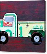 License Plate Art Pickup Truck Canvas Print