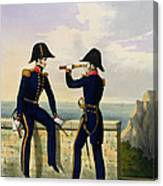 Lieutenants, Plate 1 From Costume Canvas Print