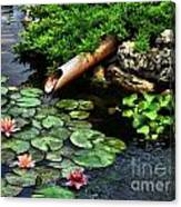 Life At The Lily Pond Canvas Print