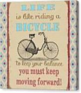 Life-bicycle Canvas Print