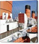 Life Boats 02 Queen Mary Ocean Liner Port Long Beach Ca Canvas Print
