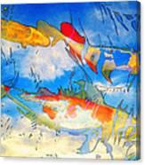 Life Is But A Dream - Koi Fish Art Canvas Print