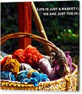 Life Is Just A Basket Of Yarn Canvas Print