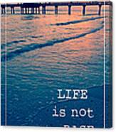 Life Is Not A Race Canvas Print