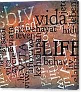 Life Letters Two Canvas Print