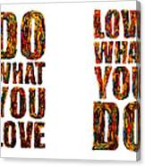 Life Love Acrylic Palette Knife  Canvas Print