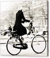 Life On Bike. Trash Sketches From The Amsterdam Streets Canvas Print