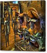 Life On The Ranch - Tack Room Canvas Print