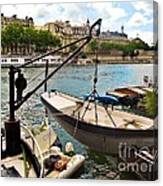 Life On The Seine Canvas Print