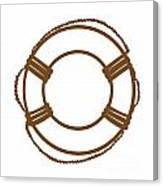 Life Preserver In Brown And White Canvas Print