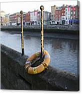 Life Saver -  Swiffey River - Dublin Ireland Canvas Print