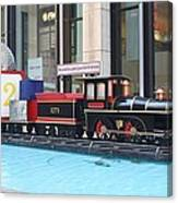 Life Size Toy Train Set In Nyc Canvas Print