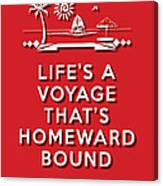 Life Voyage Red Canvas Print