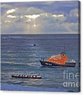 Lifeboats And A Gig Canvas Print