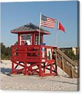 Lifeguard Siesta Beach Canvas Print