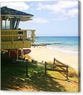 Lifeguard Hut On The Beach Canvas Print