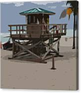 Lifeguard Station IIi Abstract Canvas Print