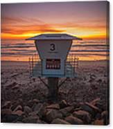 Lifeguard Tower At Dusk Canvas Print
