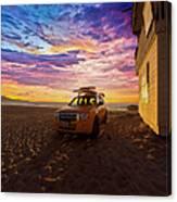 Lifeguard Tower Sunset Canvas Print