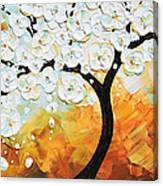 Life's Innocence - White Cherry Tree Canvas Print
