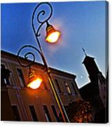 Light And Moon In B.bystrica Canvas Print