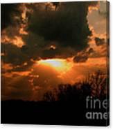 Light Beyond The Clouds Canvas Print